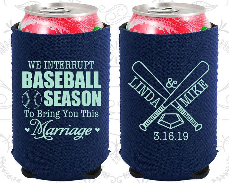 We interrupt Baseball Season to Bring you this Marriage, Neoprene Wedding,  Baseball Wedding, Neoprene Wedding Favors (313)