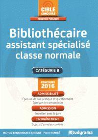 Martine Benkimoun-Canonne et Pierre Maubé - Bibliothécaire assistant spécialisé classe normale.