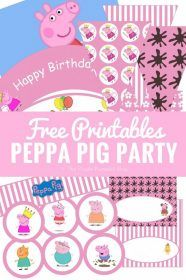 Look no further for Peppa Pig party printables and ideas! Lots of fun ideas, including food, games, and decorations. Plus a ton of free printables to use for your Peppa Pig themed party!