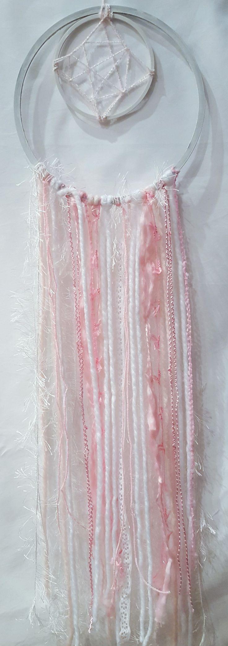 Pink macrame wall hanging art