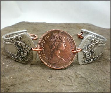 spoon bracelet.. i love this..mabey with a lucky penny. …