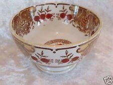 Ancien petit bol en faience de Saint-Amand Céranord décor floral brique marron