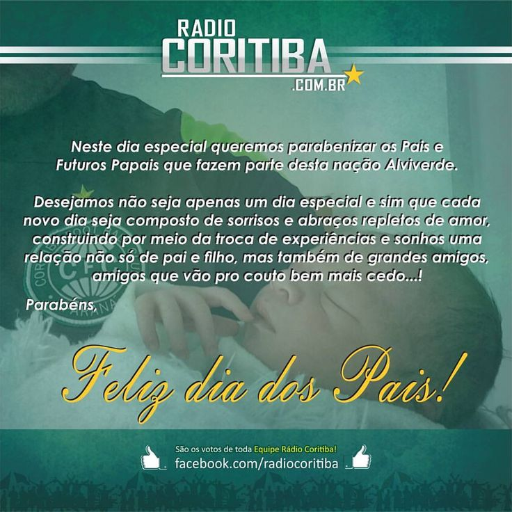 #radiocoritiba #coritiba #coxa #aquiécoritiba #parabens #felizdiadospais #papais #pai #amigoseternos #depaiprafilho #defilhoprapai (em Estádio Major Antônio Couto Pereira)
