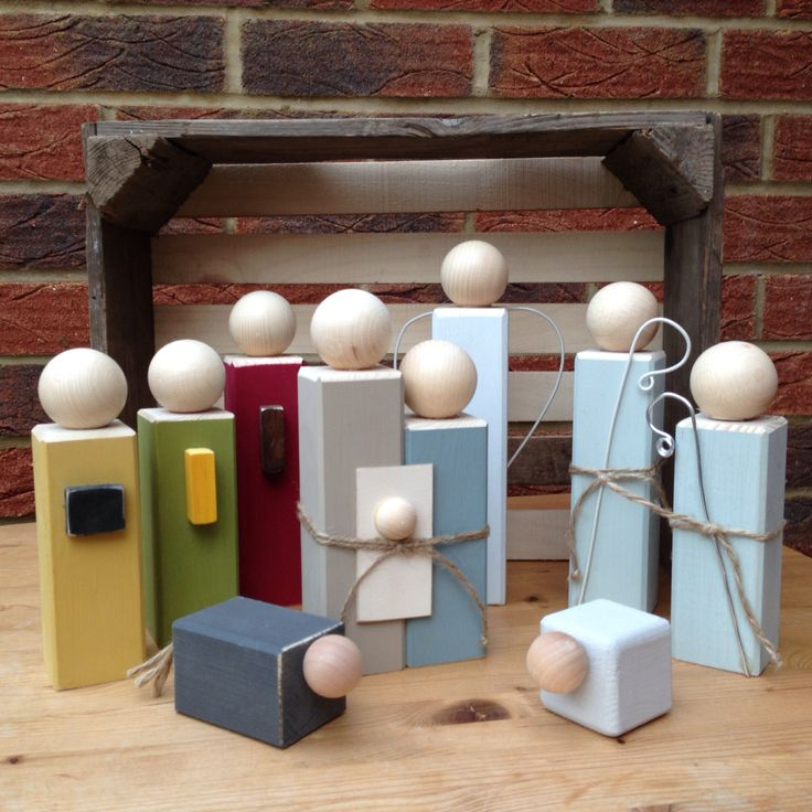 Handmade wooden nativity http://www.bloominfab.co.uk/page13.htm