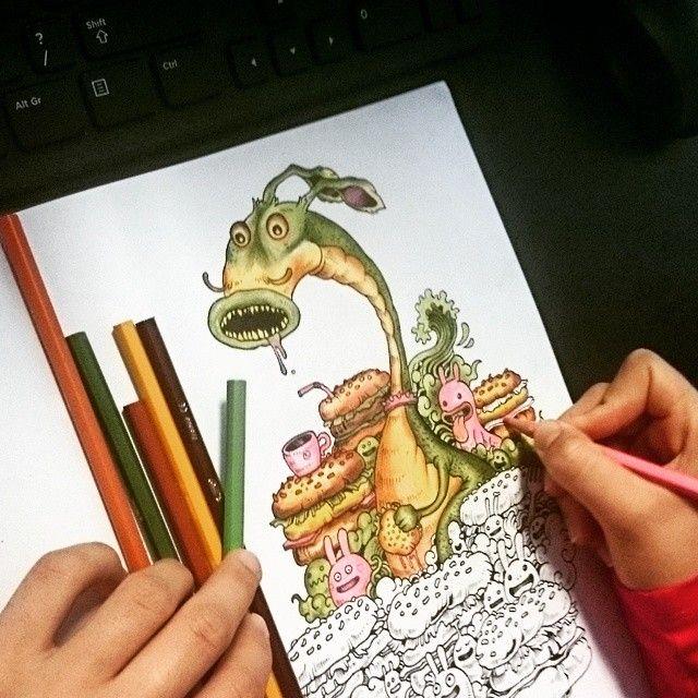 """Inwazja bazgrołów"" też jest ekstra :) #kolorowanie #kolorowanka #art #coloring #sztuka #kolorowo #coloringbook #kolorowanki #colors #inwazjabazgrołów #relaks #color #relax #colorful #summer #books #illustration #backtochildhood #kolorujemy #colouring #doodleinvasion #coloraddict #coloringaddict #doodle #coloringpages #rysowanie #kolory #colourful #bazgroły #beautiful"