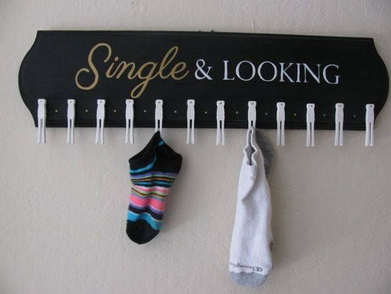 Cute idea for the laundry room.  Those tiny little socks have a better chance of reuniting with this adorable plaque.