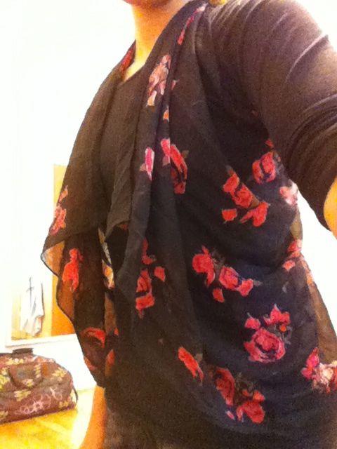 wear everyday: DIY: Scarf to Vest top