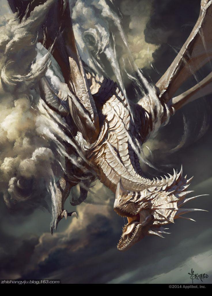 silver dragon by bayardwu.deviantart.com on @DeviantArt