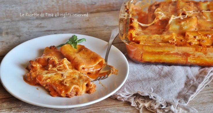Paccheri cremosi al forno un primo semplice e gustoso,facilissimo da preparare,piacerà a tutti,grandi e piccini,si prepara anche in anticipo