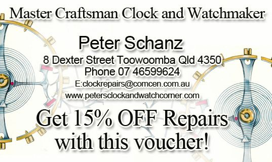 Clock & Watch Repairs 15% OFF.