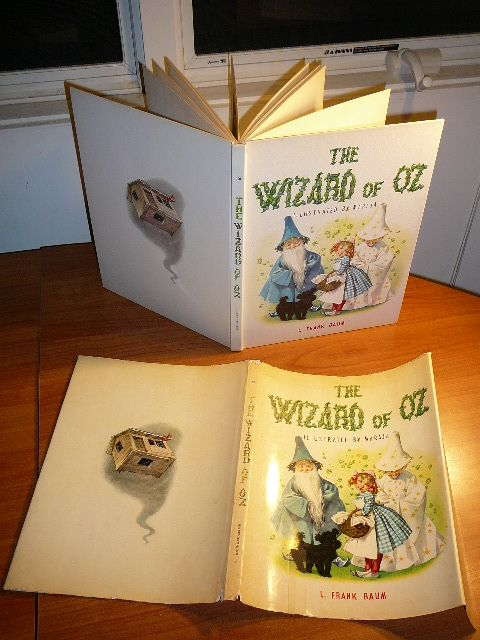 The Wizard of OZ. Illustrated by Maraja. Large hardcover with dj. c1957.