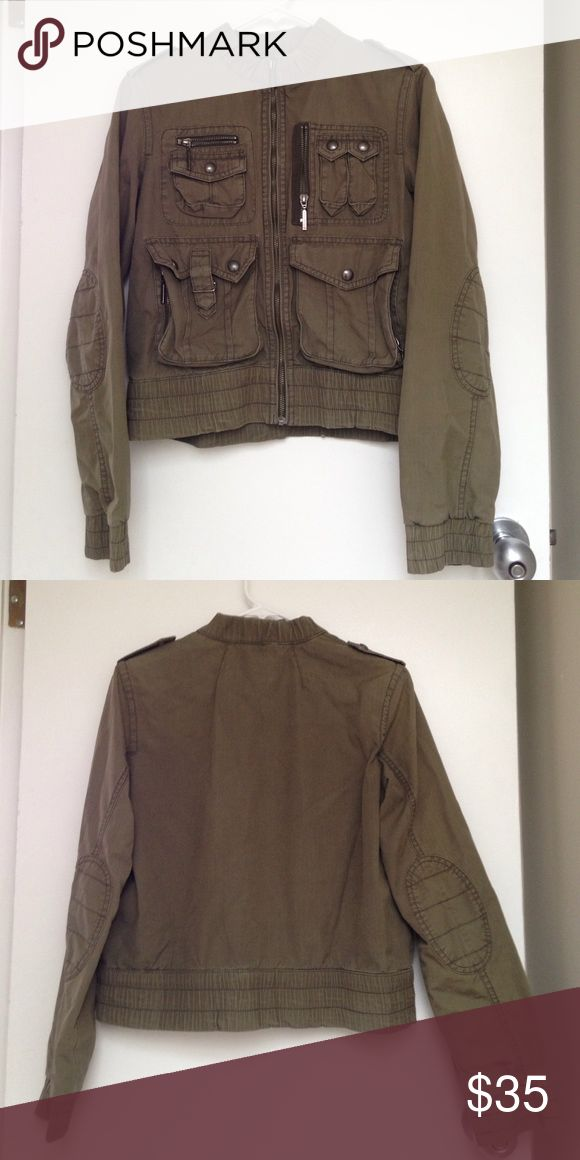 Tommy Hilfiger army jacket Small olive green Tommy Hilfiger army jacket with 7 pockets! Tommy Hilfiger Jackets & Coats