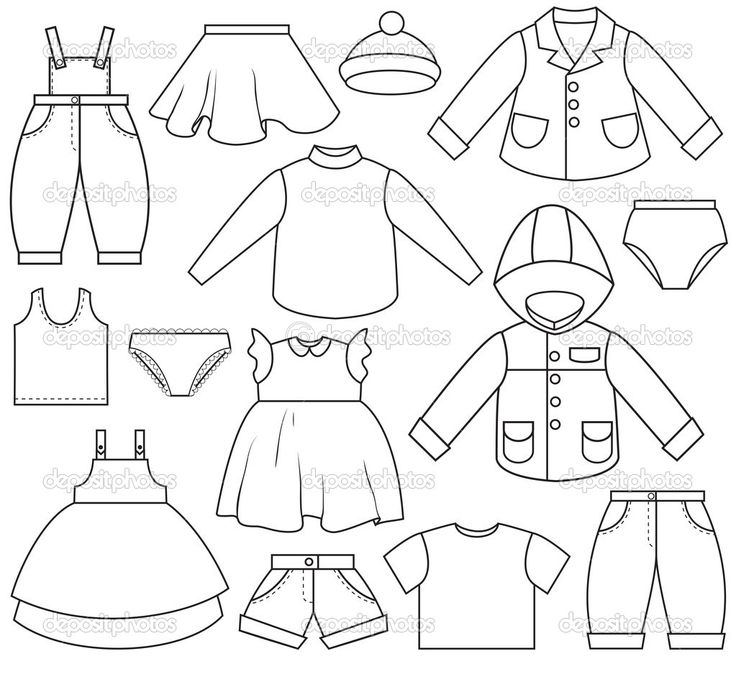 childrens clothes coloring pages - photo#12