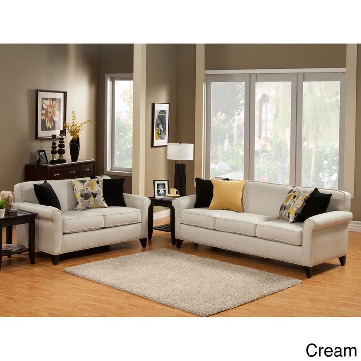 Furniture Of America Artistica Sleek Modern 2 Piece Chenille Sofa Set By Furniture Of America