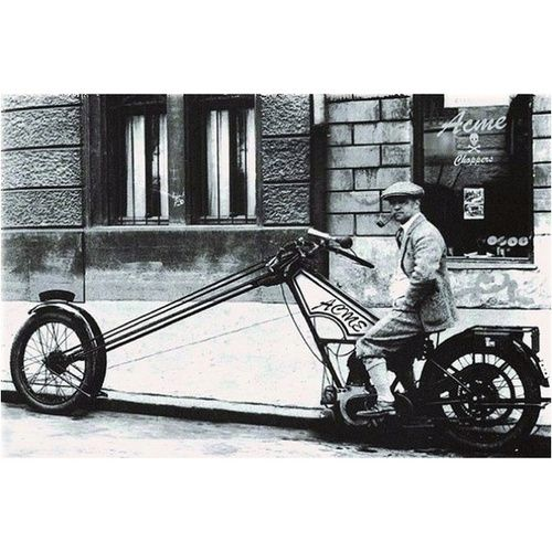 Safety First! Chopper- circa 1926 Old, Old School - PLUS: Check out how hilarious photos turn out when men replace women on motorcycle photos! (click on photo to learn more)