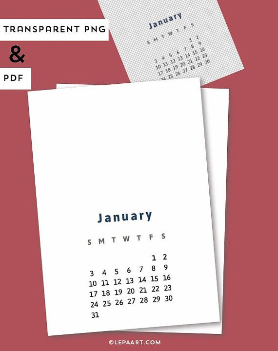 2016 monthly calendar template, Printable, A4 wall calendar template, Blank white calendar template
