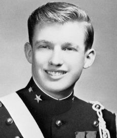 DONALD TRUMP - celebrity millionaire went to the New York Military Acadamy.
