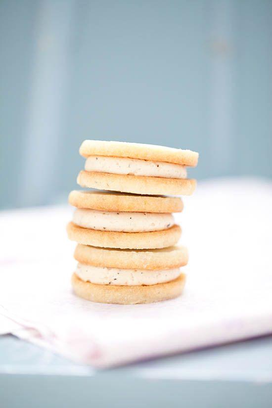 Lavender Shortbread Sandwich Cookies with Earl GreyButtercream