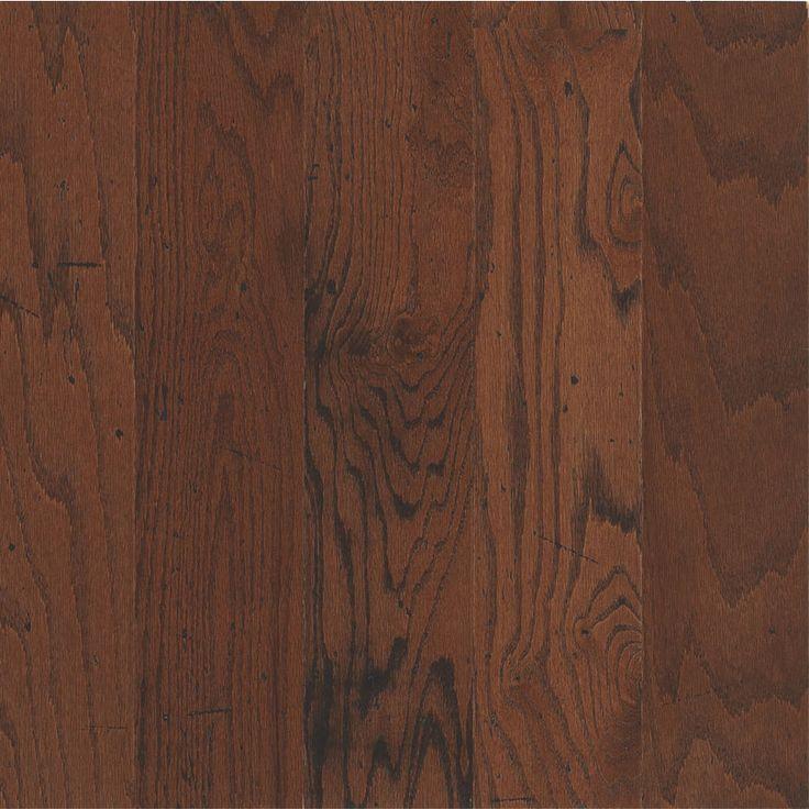 Shop Bruce Distressed  In W Prefinished Oak Locking Hardwood Flooring Dakota Cherry
