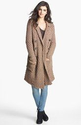 Free People 'Buttermilk Biscuit' Textured Knit Cardigan