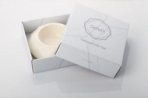 Ivory Diamond Ceramic Pet Bowl