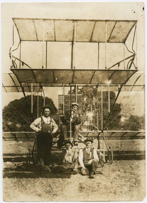 FLIGHT: Early aviation attempt, Santa Barbara, circa 1916.