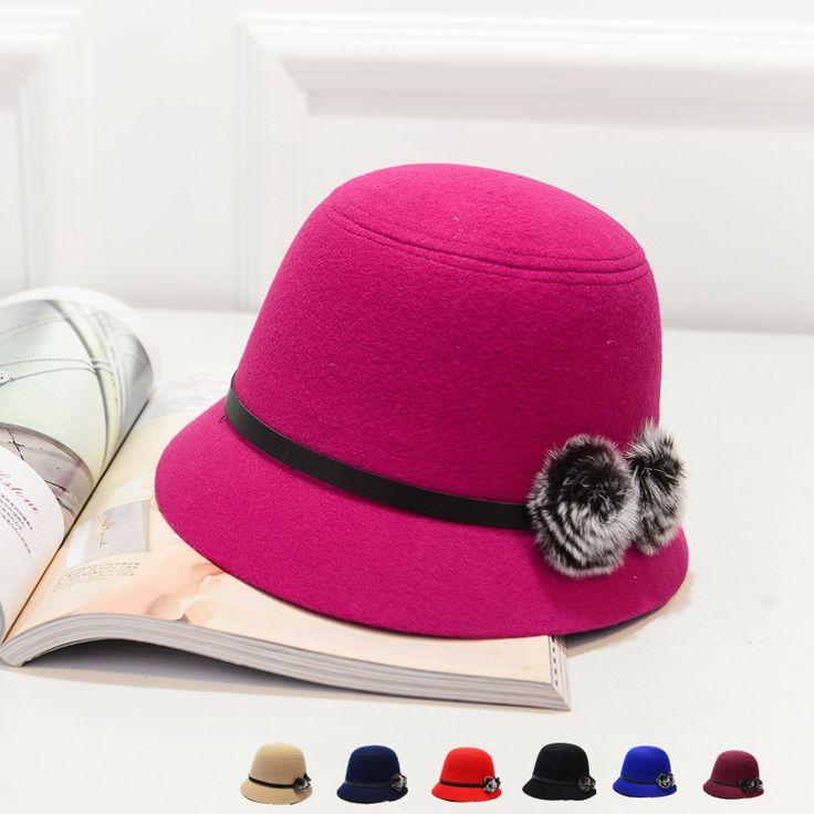 Шапочки шляпы весна большие Hrimmed шляпа леди дикий шерстяная ткань кепка ведро летучие мыши пляж принцесса тенденция