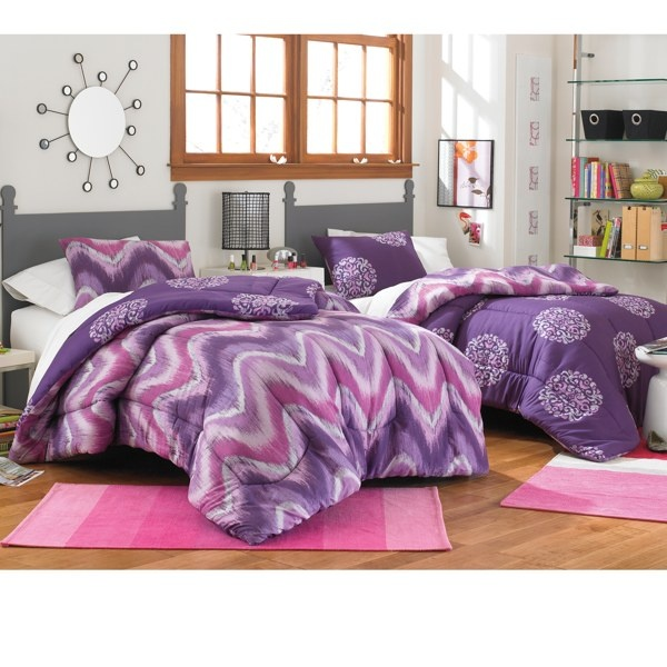 Fun Reversible Purple Comforter From Bed Bath And Beyond