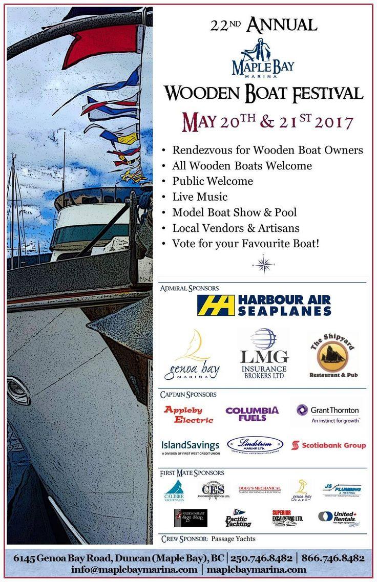 Wooden boat festival, Maple Bay Yacht Club. Beautiful boats!
