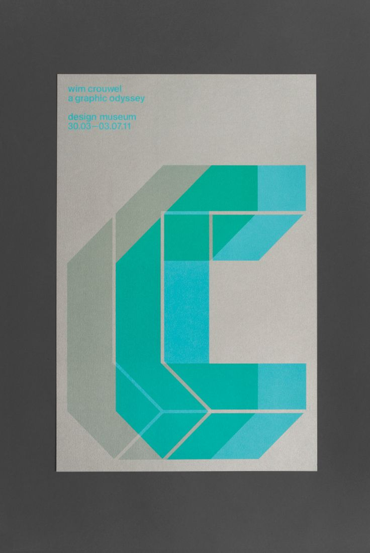uniteditions:  Wim Crouwel: A Graphic Odyssey (2011) exhibition poster bySpin