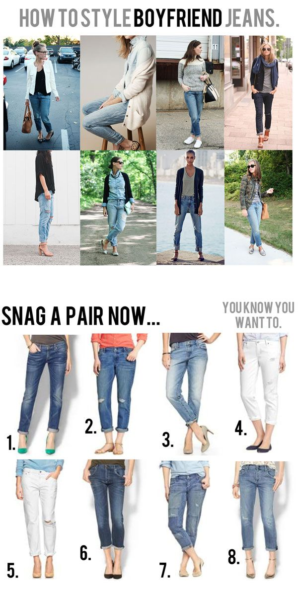 how to style boyfriend jeans for spring summer fall