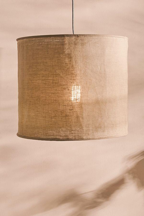Grosse Lampe Mit Leinenschirm Diy Lamp Shade Linen Shades Shades