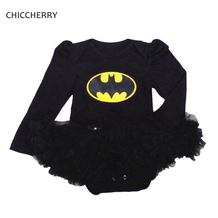 >> Click to Buy << Black Batman Baby Girl Clothes Full Sleeves Baby Lace Romper Dress Vestido De Bebe Batman Halloween Costumes Birthday Outfits #Affiliate