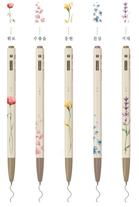 Monami Pen. The language of flowers.