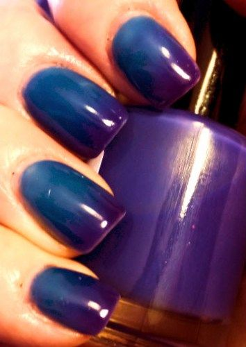 Color Changing Nail Polish - RAZZLEBERRY - Hand Blended-Blue to Purple   BigTRanch - Bath & Beauty on ArtFire