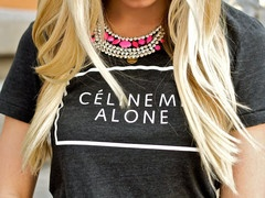 This is one of my favorites on glamzelle.com: Celine Me Alone T-Shirt