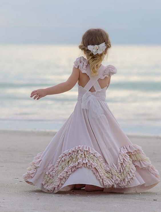 87c95982b65 35 Unbelievably Cute Flower Girl Dresses for a Spring Wedding. Credits in  comment.