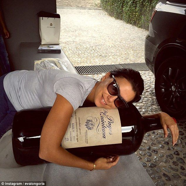 'I guess I could share': Eva seems to be having fun as she posted this photo of herself cu...