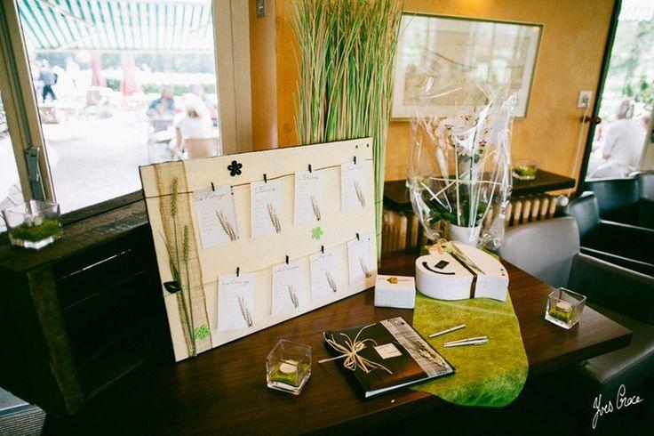 D coration de mariage champ tre chocolat et vert ensemble for Centre de table vert anis