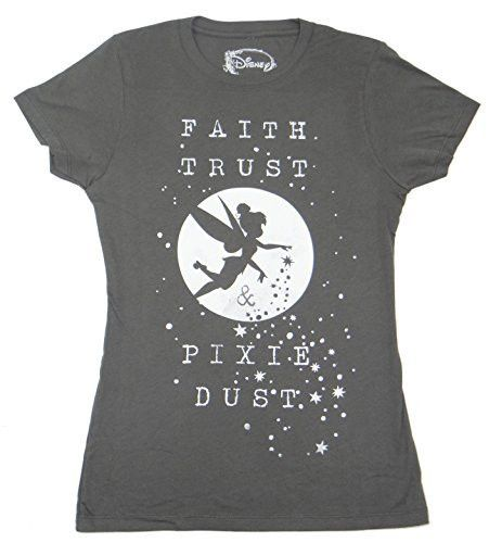 Faith Trust and Pixie Dust are all you need to get to Neverland on on this juniors tee. - Womens Juniors Fitted tee - Officially licensed - 100% Cotton