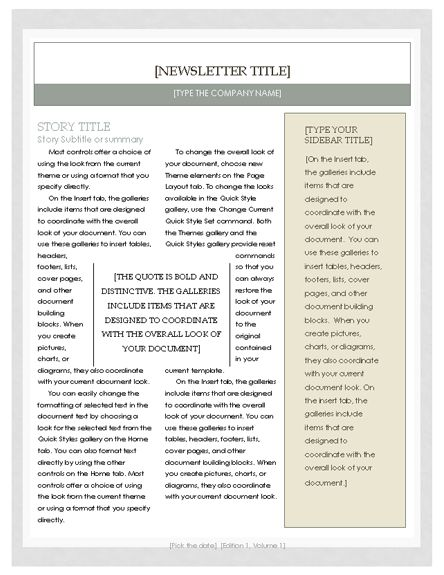 The 25+ best Microsoft word 2010 free ideas on Pinterest - newsletter template free word