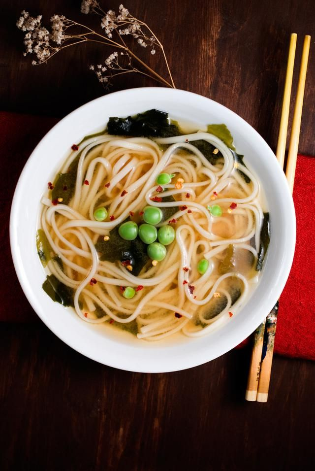 15 Spicy Soups and Stew Recipes To Keep You Warm: Easy Miso Udon Soup with Chili Flakes