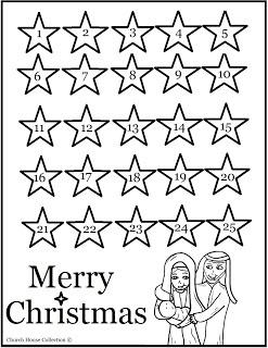 religious advent calendar printable color in a star each day