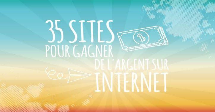 Gagner de l'argent sur #internet gratuitement ça devient possible grâce aux 35 sites rémunérateurs que je vous présente dans cet article !  Vous pouvez facilement gagner plus de 100€/mois en utilisant plusieurs de ces sites.  Vous pouvez gagner de l'argent en répondant à des sondages, en vendant vos photos, vos services ou même récupérer de l' #argent sur vos achats fait sur internet.  Plus d'infos sur mon blog...