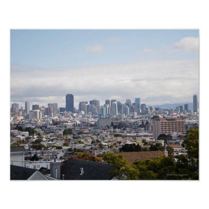 Customizable #Architecture #Building#Exterior #California #City #City#Life #Cityscape #Cloud #Color#Image #Crowded #Day #High#Angle#View #Horizontal #Majestic #Nature #No#People #Outdoors #Photography #San#Francisco#California #Scenics #Sky #Skyline #Travel#Destinations #Tree #Usa View of San Francisco skyline Poster available WorldWide on http://bit.ly/2ijEEv1
