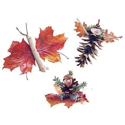 Use items from nature to create decorations for the Thanksgiving table or holiday tree!   Spoonful