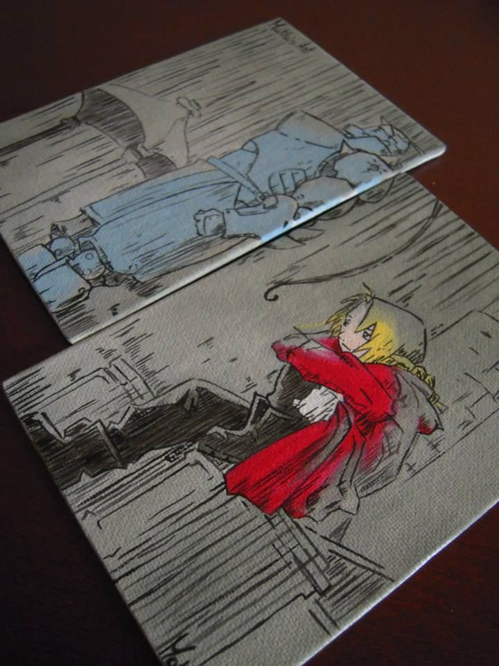 FullMetal Alchemist Canvas by Matita's Art