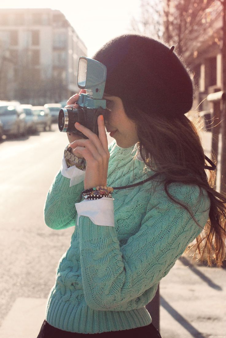 I'll take both the mint sweater AND the vintage camera please.