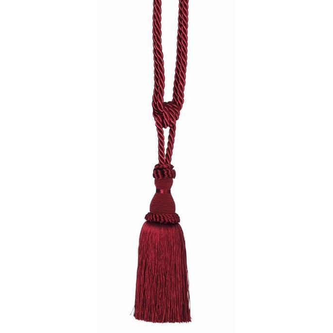 Classic curtain tieback in Wine with end tassel