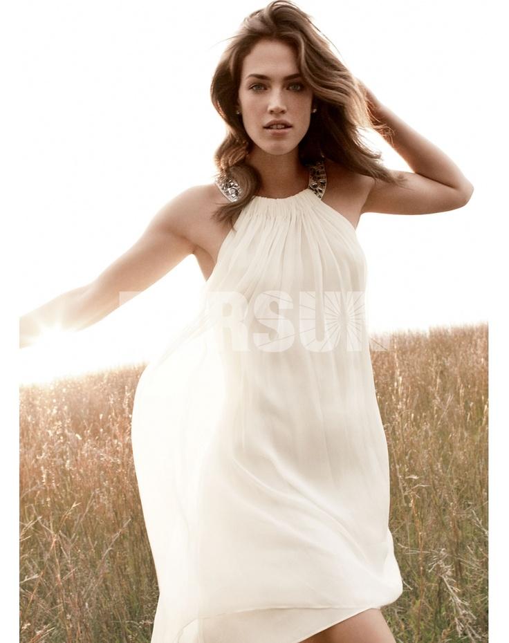Ma Provence Robe de mariée courte col américain - Persun FR